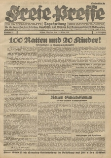 Freie Presse, Nr. 61 Montag 12. März 1928 4. Jahrgang