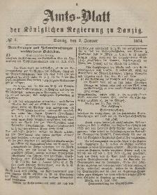 Amts-Blatt der Königlichen Regierung zu Danzig, 3. Januar 1874, Nr. 1