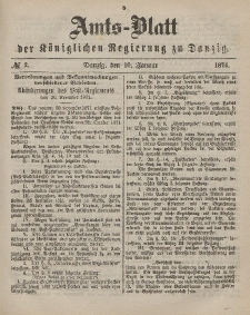 Amts-Blatt der Königlichen Regierung zu Danzig, 10. Januar 1874, Nr. 2