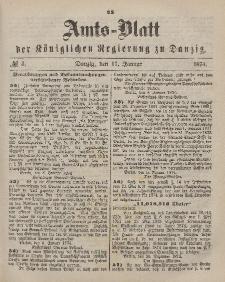 Amts-Blatt der Königlichen Regierung zu Danzig, 17. Januar 1874, Nr. 3