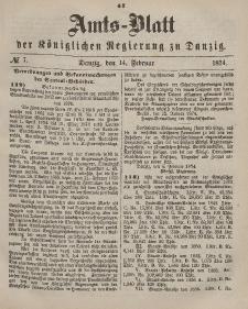 Amts-Blatt der Königlichen Regierung zu Danzig, 14. Februar 1874, Nr. 7