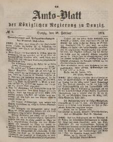 Amts-Blatt der Königlichen Regierung zu Danzig, 28. Februar 1874, Nr. 9
