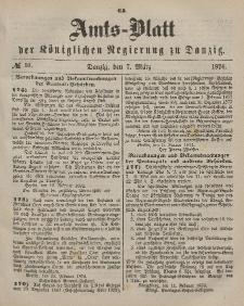 Amts-Blatt der Königlichen Regierung zu Danzig, 7. März 1874, Nr. 10