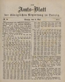 Amts-Blatt der Königlichen Regierung zu Danzig, 9. Mai 1874, Nr. 19