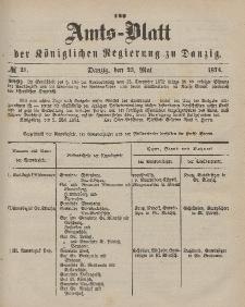 Amts-Blatt der Königlichen Regierung zu Danzig, 23. Mai 1874, Nr. 21