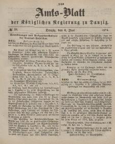 Amts-Blatt der Königlichen Regierung zu Danzig, 6. Juni 1874, Nr. 23