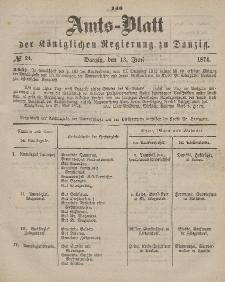 Amts-Blatt der Königlichen Regierung zu Danzig, 13. Juni 1874, Nr. 24