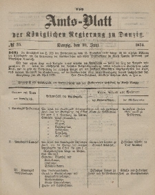 Amts-Blatt der Königlichen Regierung zu Danzig, 20. Juni 1874, Nr. 25