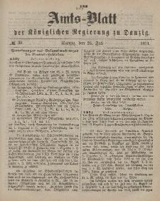 Amts-Blatt der Königlichen Regierung zu Danzig, 25. Juli 1874, Nr. 30
