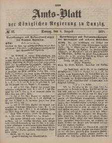 Amts-Blatt der Königlichen Regierung zu Danzig, 8. August 1874, Nr. 32