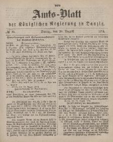 Amts-Blatt der Königlichen Regierung zu Danzig, 29. August 1874, Nr. 35