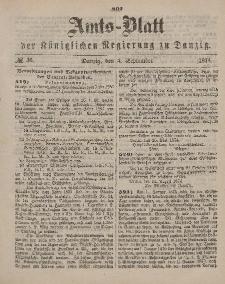 Amts-Blatt der Königlichen Regierung zu Danzig, 5. September 1874, Nr. 36