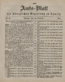 Amts-Blatt der Königlichen Regierung zu Danzig, 10. Oktober 1874, Nr. 41