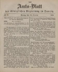 Amts-Blatt der Königlichen Regierung zu Danzig, 24. Oktober 1874, Nr. 43
