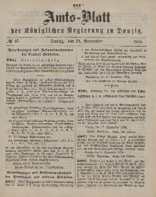 Amts-Blatt der Königlichen Regierung zu Danzig, 21. November 1874, Nr. 47