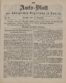 Amts-Blatt der Königlichen Regierung zu Danzig, 12. Dezember 1874, Nr. 50