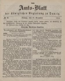 Amts-Blatt der Königlichen Regierung zu Danzig, 26. Dezember 1874, Nr. 52