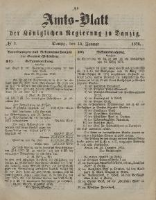 Amts-Blatt der Königlichen Regierung zu Danzig, 15. Januar 1876, Nr. 3