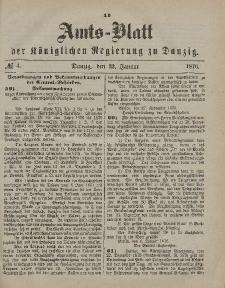 Amts-Blatt der Königlichen Regierung zu Danzig, 22. Januar 1876, Nr. 4
