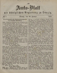 Amts-Blatt der Königlichen Regierung zu Danzig, 29. Januar 1876, Nr. 5