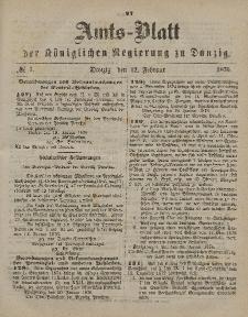 Amts-Blatt der Königlichen Regierung zu Danzig, 12. Februar 1876, Nr. 7