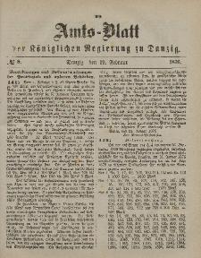 Amts-Blatt der Königlichen Regierung zu Danzig, 19. Februar 1876, Nr. 8