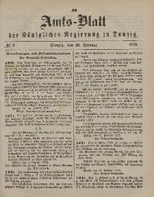 Amts-Blatt der Königlichen Regierung zu Danzig, 26. Februar 1876, Nr. 9