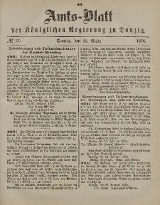 Amts-Blatt der Königlichen Regierung zu Danzig, 11. März 1876, Nr. 11
