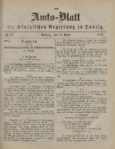 Amts-Blatt der Königlichen Regierung zu Danzig, 8. April 1876, Nr. 15