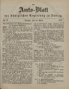 Amts-Blatt der Königlichen Regierung zu Danzig, 15. April 1876, Nr. 16