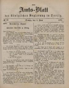Amts-Blatt der Königlichen Regierung zu Danzig, 3. Juni 1876, Nr. 23