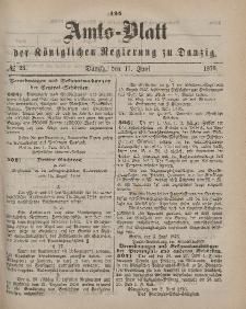 Amts-Blatt der Königlichen Regierung zu Danzig, 17. Juni 1876, Nr. 25