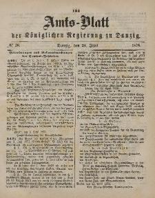 Amts-Blatt der Königlichen Regierung zu Danzig, 24. Juni 1876, Nr. 26