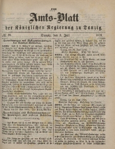 Amts-Blatt der Königlichen Regierung zu Danzig, 8. Juli 1876, Nr. 28