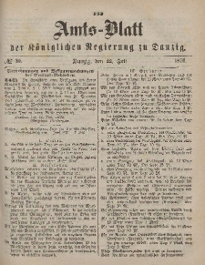 Amts-Blatt der Königlichen Regierung zu Danzig, 15. Juli 1876, Nr. 29