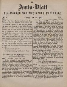 Amts-Blatt der Königlichen Regierung zu Danzig, 29. Juli 1876, Nr. 31