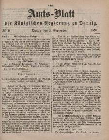 Amts-Blatt der Königlichen Regierung zu Danzig, 2. September 1876, Nr. 36
