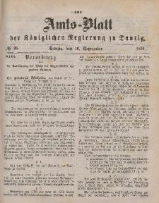 Amts-Blatt der Königlichen Regierung zu Danzig, 16. September 1876, Nr. 38