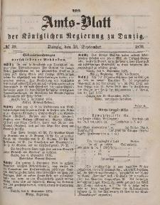 Amts-Blatt der Königlichen Regierung zu Danzig, 23. September 1876, Nr. 39