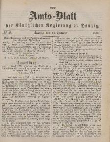 Amts-Blatt der Königlichen Regierung zu Danzig, 14. Oktober 1876, Nr. 42