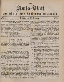 Amts-Blatt der Königlichen Regierung zu Danzig, 28. Oktober 1876, Nr. 44