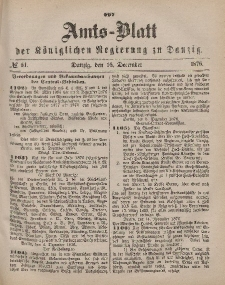 Amts-Blatt der Königlichen Regierung zu Danzig, 16. Dezember 1876, Nr. 51