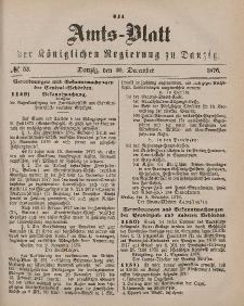 Amts-Blatt der Königlichen Regierung zu Danzig, 30. Dezember 1876, Nr. 53