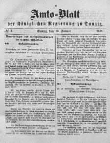 Amts-Blatt der Königlichen Regierung zu Danzig, 19. Januar 1878, Nr. 3