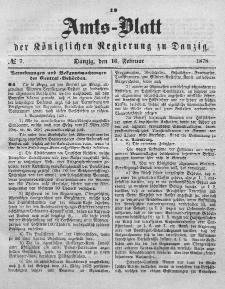 Amts-Blatt der Königlichen Regierung zu Danzig, 16. Februar 1878, Nr. 7