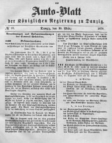 Amts-Blatt der Königlichen Regierung zu Danzig, 30. März 1878, Nr. 13