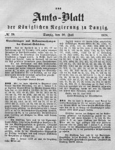 Amts-Blatt der Königlichen Regierung zu Danzig, 20. Juli 1878, Nr. 29