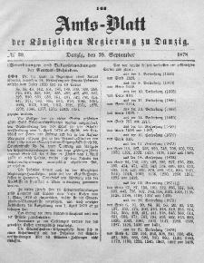 Amts-Blatt der Königlichen Regierung zu Danzig, 28. September 1878, Nr. 39