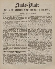 Amts-Blatt der Königlichen Regierung zu Danzig, 11. Januar 1873, Nr. 2