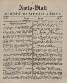 Amts-Blatt der Königlichen Regierung zu Danzig, 18. Januar 1873, Nr. 3